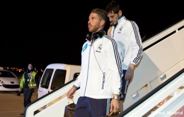 Arrivée du Real Madrid à  Malaga