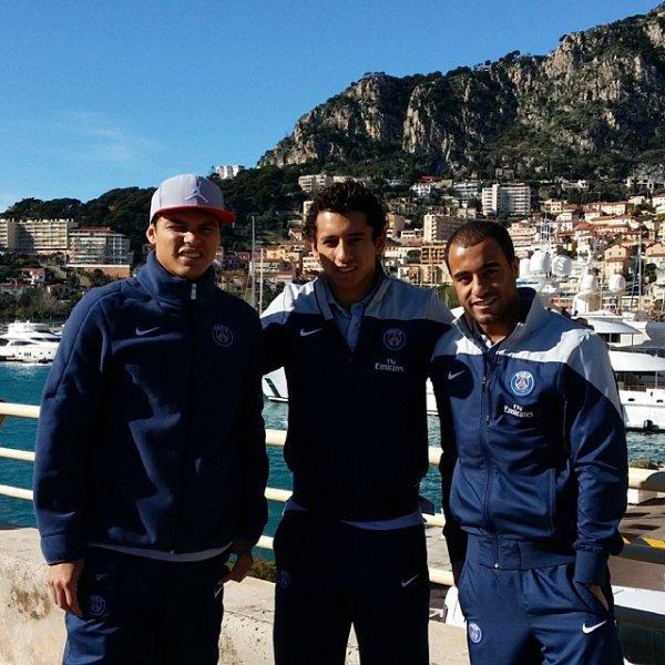Thiago Silva, Lucas Moura, Marquinhos et Van Der Wiel