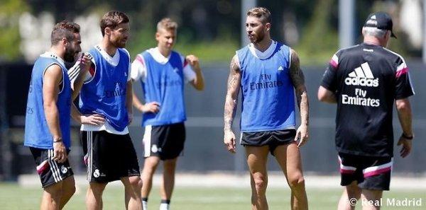 Entrainement du Real Madrid, Le 24/07/2014