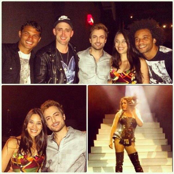 Marcelo, Clarice Alves et Thiago Silva