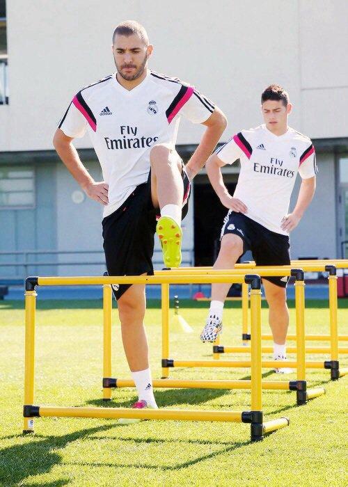 Retour à L'entrainement pour Karim Benzema, Raphael Varane et James Rodriguez