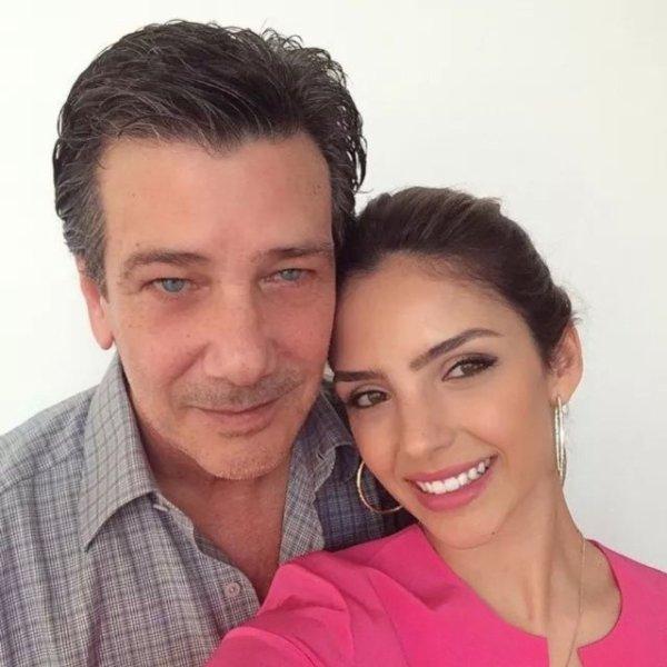 Caroline Celico avec son père