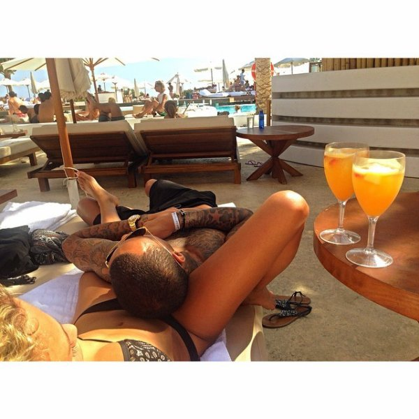 Gregory van der Wiel et Stephanie Bertram Rose