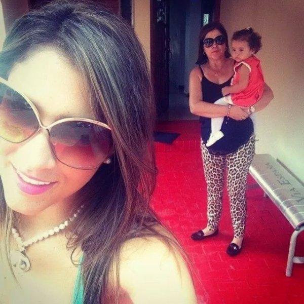 Daniela Ospina avec sa mère et Salomé Rodriguez
