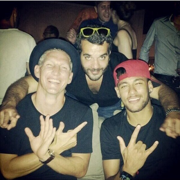 Neymar et Bastian Schweinsteiger a Ibiza