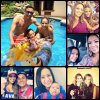 Keylor Navas, Andrea Salas, Daniela et Mateo Navas