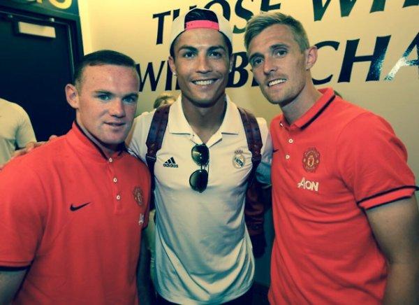 Cristiano Ronaldo, Darren Fletcher et Wayne Rooney