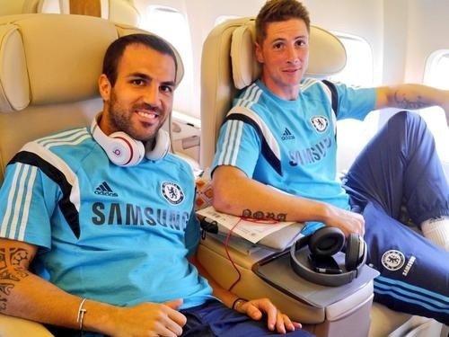Cesc Fabregas et Fernando Torres