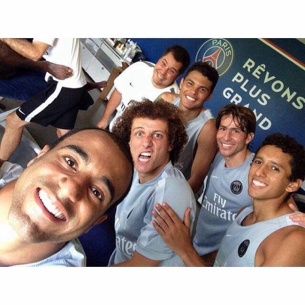 David Luiz, Thiago Silva, Lucas Moura, Maxwell et Marquinhos