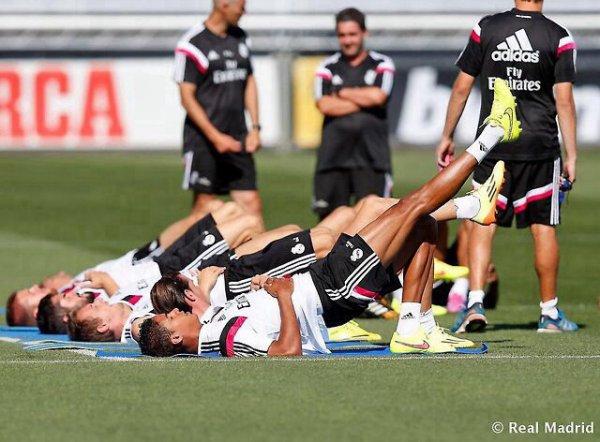 Entrainement du Real Madrid, Le 07/08/2014