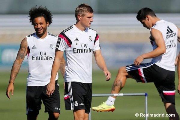 Entrainement du Real Madrid, Le 10/08/2014