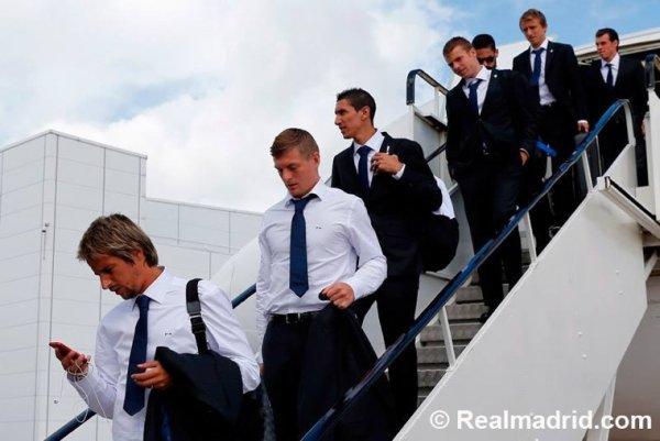 Arrivée du Real Madrid à Cardiff, Le 11/08/2014