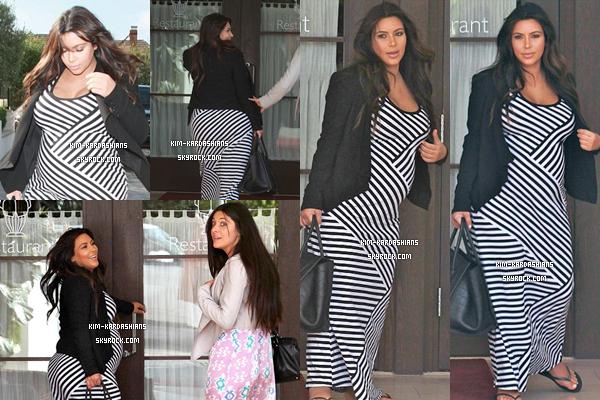 . 10/06/13 : Kim et son amie ont étés photographié allant déjeuner dans un restaurant . .