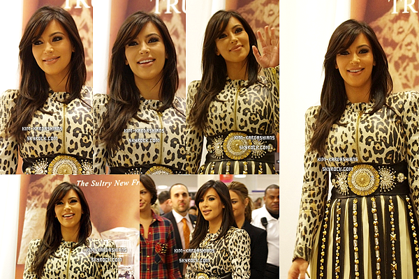 """.  01/02/2013 : Kim était présente pour faire de la promo pour son parfum """"True Reflection"""" à Ridgeland.  J'aime bien sa tenue, elle était rayonnante ce jour là. Pour moi je lui donne un gros top pour cette evenement. top ou un flop ?  ."""