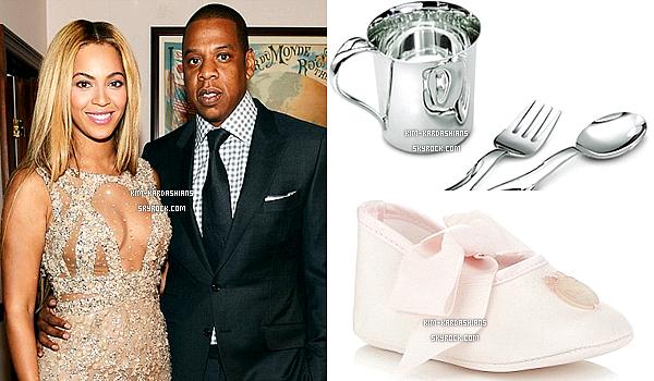 .  Kim Kardashian et Kanye West : North déjà pourri gatée par le couple Beyoncé et Jay-Z!  .