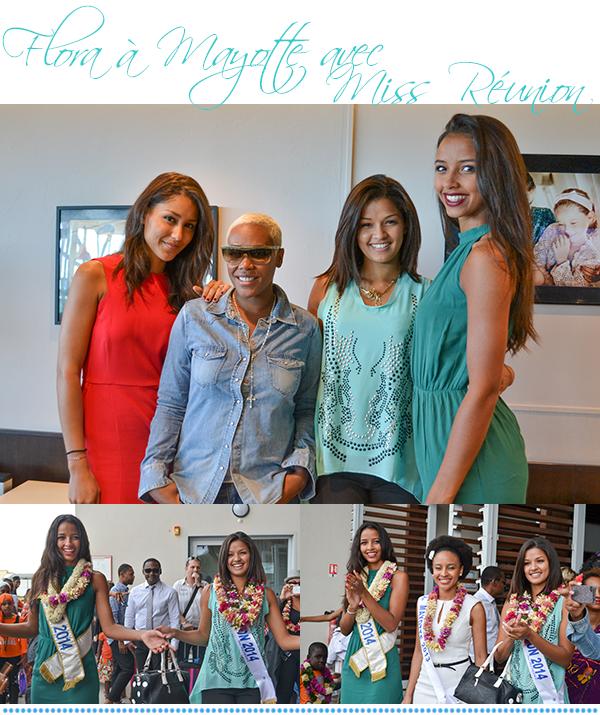 Miss Mayotte 2014 - Passage éclair à la Réunion - Design peugeot - Match France Espagne