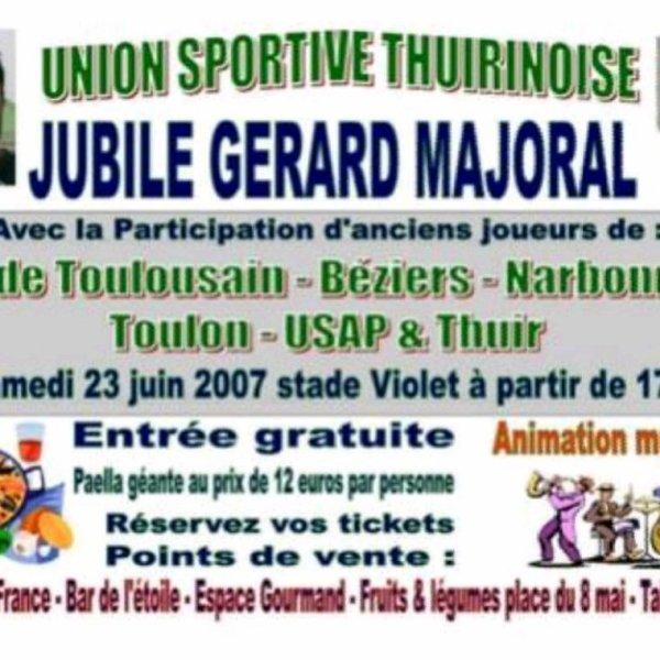 Maillot de match du Jubilé de Gérard Majoral