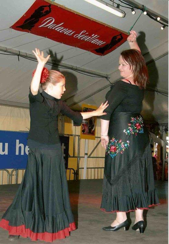 Féria de la mer, 1ier mai 2008. Concours de Sévillane avec Ilona.