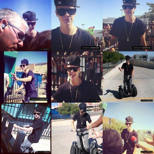 Jeudi 28 septembre, dans l'après-midi Justin a été aperçu lorsqu'il sortait des studios de répétitions. Il a été faire un petit coucou aux fans