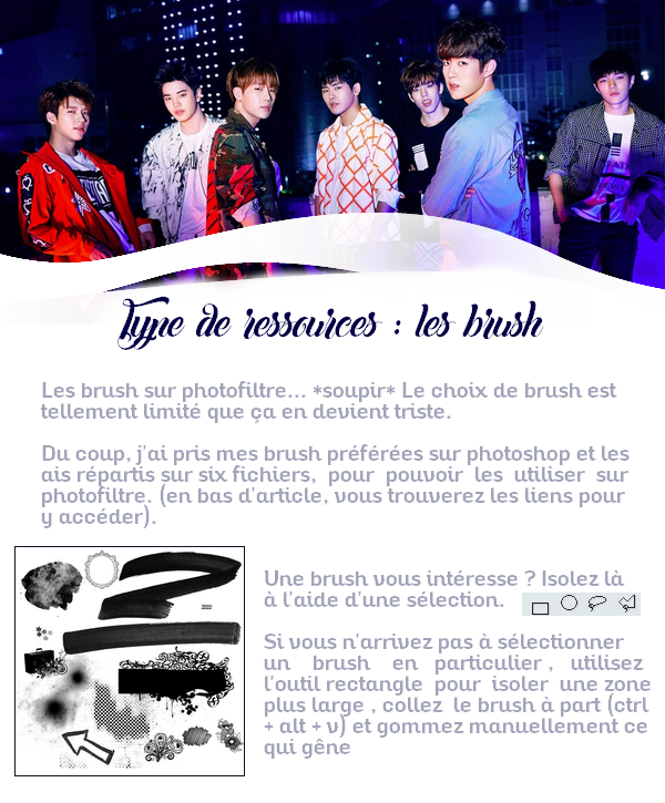 Type de ressources : Les brush.