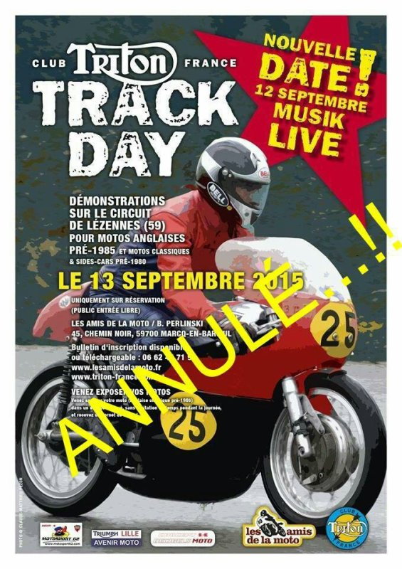 Annulation du TRACK DAY