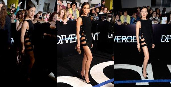 Maggie à l'avant première de Divergent