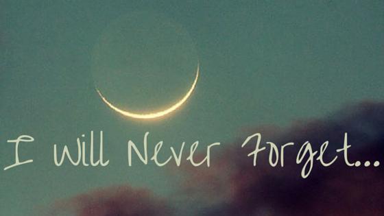 J'oublierai jamais...