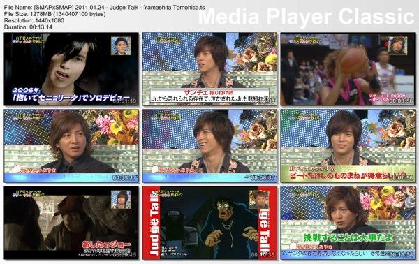[YAMASHITA TOMOHISA] SmapXSmap 24/01/2011