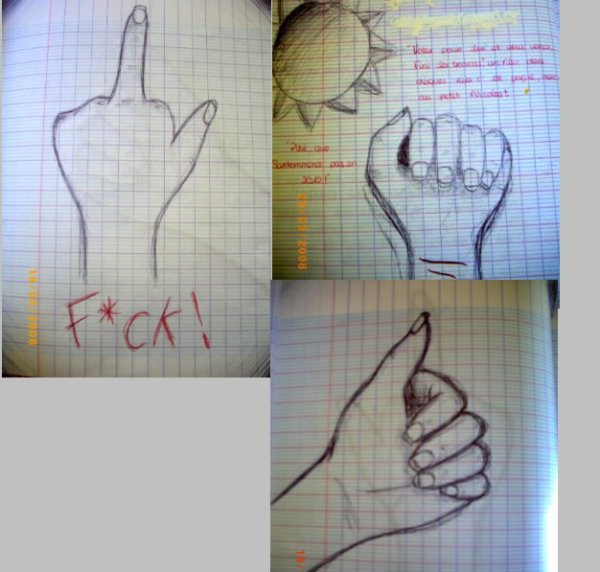 Quand on s'ennuie en cours...!:)