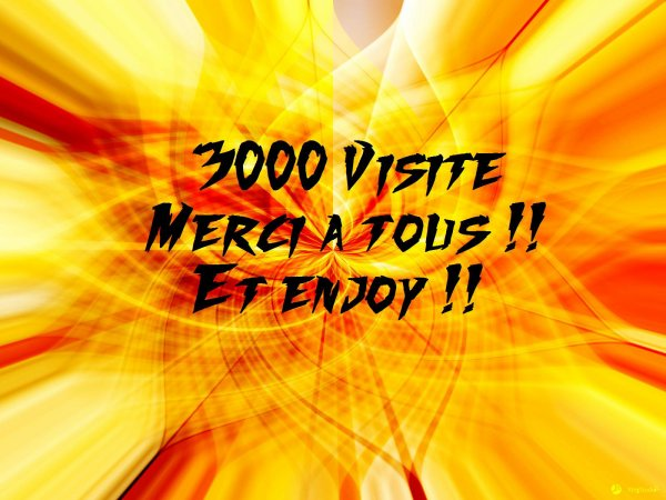 3000 visites ! Merci !