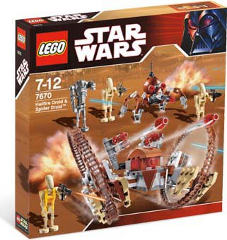 lego star wars-hailfir droid & spider droid