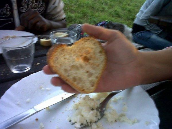cœur en pain de la colo