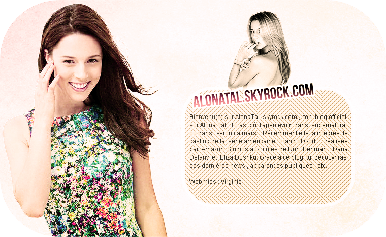 Bienvenu(e) sur AlonaTal.skyrock.com