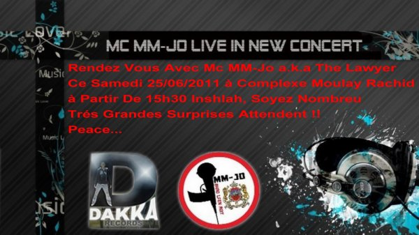 Soyez nombreux au concert de Mc MM-Jo Le Samedi 25/06/2011