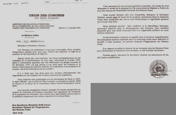 Comores : M. Boléro, quel est le bilan du retrait de la question de l'île comorienne de Mayotte?