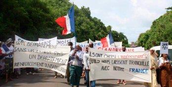 Mayotte : Une manifestation  suivie mais ternie…