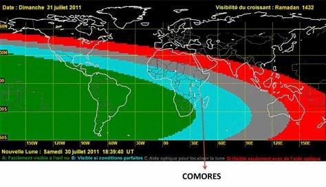 COMORES RAMADAN / Visibilité du croissant lunaire
