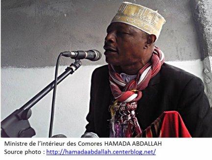 MARSEILLE /Guéant : COMMUNIQUE DU MINISTRE DE L'INTERIEUR DES COMORES