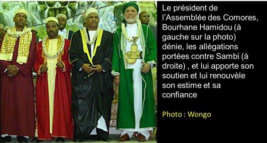 Le président de l'Assemblée des Comores apporte son soutien et son estime à Sambi