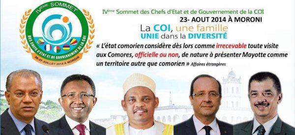 COMORES : Êtes-vous favorable à une visite de F. HOLLANDE à Moroni le 23 août 2014 ?