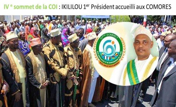 IVe sommet de la COI : IKILILOU 1er Président à s'être rendu aux Comores