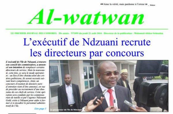 COMORES / ANJOUAN : Un directeur, ça se mérite