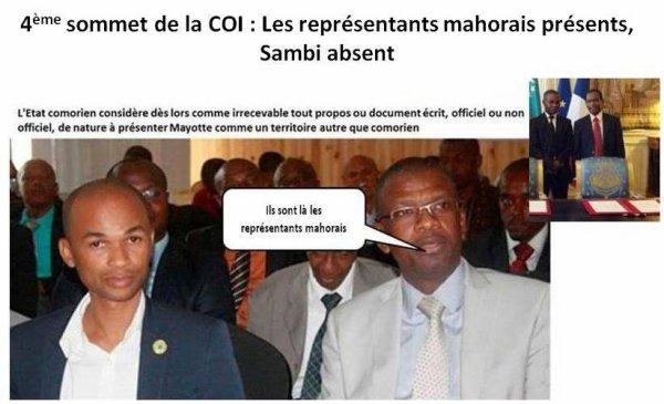 4ème sommet de la COI aux Comores :  LA HAUTE TRAHISON