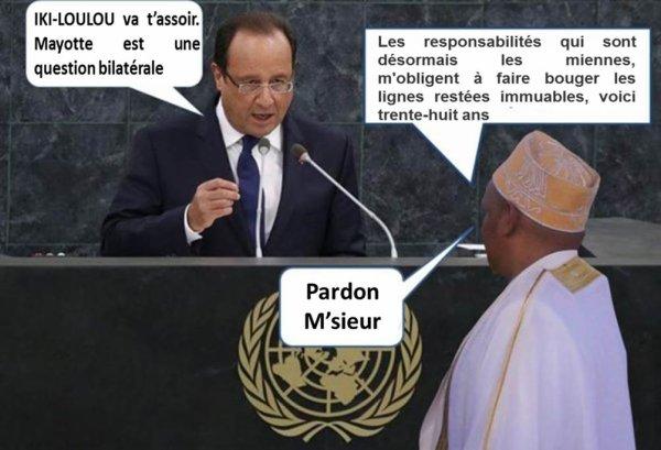 Les Comores à la 69ème AGNU : IKILILOU DHOININE dos au mur
