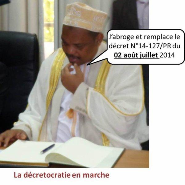 COMORES : Cacophonie autour du contenu des décrets