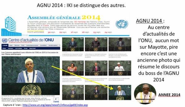 AGNU 2014 : Le Président des Comores se distingue des autres