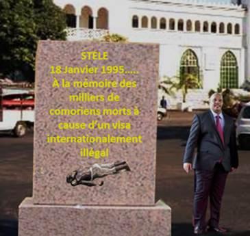 Une stèle imaginaire en mémoire aux victimes du visa de la mort