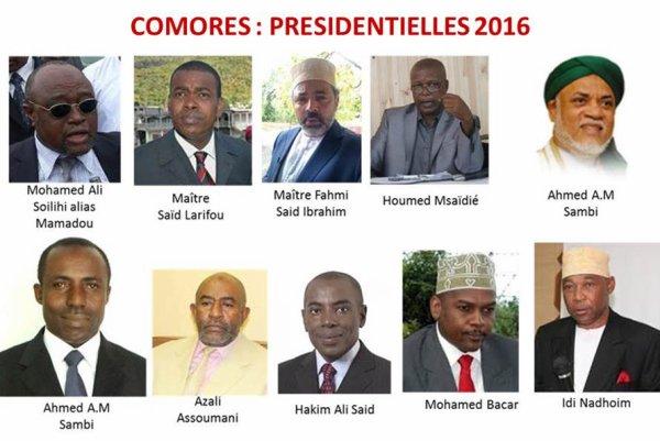 COMORES /Présidentielles 2016 : Parmi ces candidats, lequel voteriez-vous?