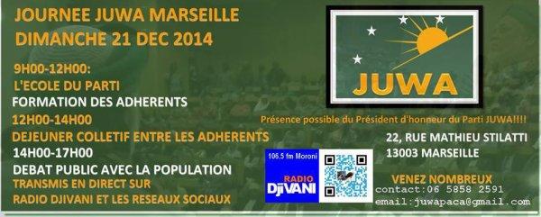 Programme de la journée JUWA à Marseille le 21/12/2014