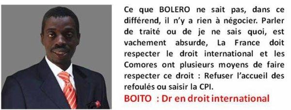 COMORES : LETTRE OUVERTE A  HAMADA MADI BOLERO